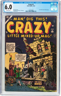 Crazy #1 (Atlas, 1953) CGC FN 6.0 Off-white pages