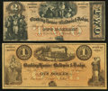 Obsoletes By State:Iowa, IA - Lot of 2 Banking House of Baldwin & Dodge Remainder Notes. . ... (Total: 2 notes)