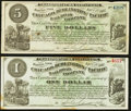 Obsoletes By State:Iowa, IA - Lot of 2 Chicago, Burlington and Pacific Railroad Company April 1, 1882 Scrip Pair.. ... (Total: 2 notes)