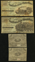 Obsoletes By State:Iowa, IA - Lot of 4 J.C. Washburn, Davenport Scrip Notes from Two Series.. ... (Total: 4 notes)