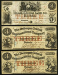 Obsoletes By State:Iowa, IA - Lot of 3 Iowa $3 Banknote Size Private Issuer Notes. . ...(Total: 3 notes)