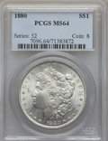 Morgan Dollars: , 1880 $1 MS64 PCGS. PCGS Population: (4511/1395). NGC Census: (4875/740). CDN: $125 Whsle. Bid for problem-free NGC/PCGS MS6...