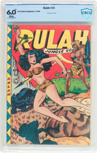 Rulah Jungle Goddess #25 (Fox Features Syndicate, 1949) CBCS FN 6.0 White pages
