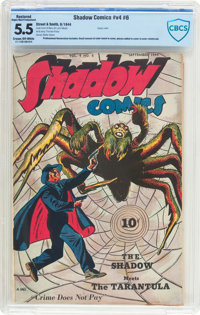 Shadow Comics V4#6 (Street & Smith, 1944) CBCS Restored FN- 5.5 (Slight/Moderate Professional) Cream to off-whit...