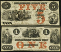 Obsoletes By State:Iowa, IA - Lot of 2 Treasurer of Lyons City Engraved Issued Notes. . ... (Total: 2 notes)