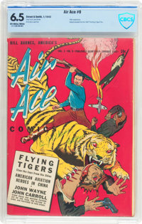 Bill Barnes Comics #9 (Street & Smith, 1943) CBCS FN+ 6.5 Off-white to white pages