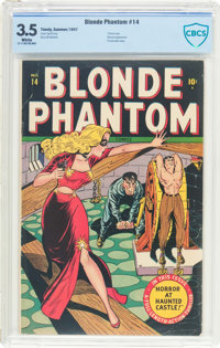 Blonde Phantom #14 (Timely, 1947) CBCS VG- 3.5 White pages