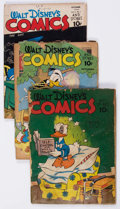 Golden Age (1938-1955):Cartoon Character, Walt Disney's Comics and Stories Group of 28 (Dell, 1942-54)Condition: Average FR.... (Total: 28 Comic Books)