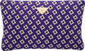 """Luxury Accessories:Bags, Prada Purple, Black & White Jacquard Wool Clutch Bag.Excellent Condition. 14"""" Width x 8.5"""" Height x 1""""Depth. ..."""
