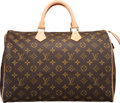 "Luxury Accessories:Bags, Louis Vuitton Classic Monogram Canvas Speedy 35 Bag. ExcellentCondition. 14"" Width x 9.5"" Height x 7.5"" Depth. ..."