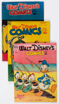Golden Age (1938-1955):Cartoon Character, Walt Disney's Comics and Stories Group of 7 (Dell, 1949-53) Condition: Average VG.... (Total: 7 Comic Books)