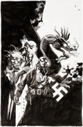 Original Comic Art:Covers, Mike Mignola Lobster Johnson: The Iron Prometheus #5 Cover Original Art (Dark Horse, 2008)....