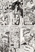 Original Comic Art:Panel Pages, Barry Smith and Tom Sutton Avengers #99 Story Page 9 HawkeyeOriginal Art (Marvel, 1972)....