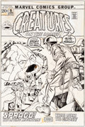 Original Comic Art:Covers, Gil Kane Creatures On The Loose #15 Cover Original Art(Marvel, 1972)....