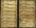 Obsoletes By State:Massachusetts, MA- Lot of 14 Massachusetts Perkins Plate Notes. . ... (Total: 14notes)