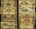 Obsoletes By State:Massachusetts, MA- Lot of 9 Counterfeit and Spurious Notes. . ... (Total: 9 notes)
