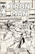 Original Comic Art:Covers, Bob Layton Iron Man #202 Cover Ka-Zar Original Art (Marvel, 1986)....