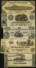 Obsoletes By State:Massachusetts, MA- Lot of 5 Higher Grade Spurious and Counterfeit Notes.. ...(Total: 5 notes)