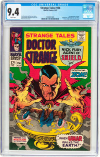 Strange Tales #156 (Marvel, 1967) CGC NM 9.4 White pages