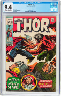 Thor #172 (Marvel, 1970) CGC NM 9.4 Off-white to white pages