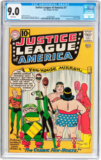 Justice League of America #7 (DC, 1961) CGC VF/NM 9.0 White pages