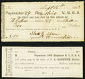 Obsoletes By State:Ohio, OH - Lot of 2 Ohio Sutler Paymaster Forms. . ... (Total: 2 notes)