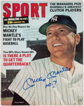 Baseball Collectibles:Programs, Mickey Mantle Signed Sport Magazine. ...