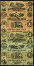 Obsoletes By State:Massachusetts, MA- Lot of 6 Holyoke Bank, Northampton Color Tinted IssuedBanknotes.. ... (Total: 6 notes)