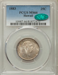 Coins of Hawaii , 1883 25C Hawaii Quarter MS66 PCGS. CAC....