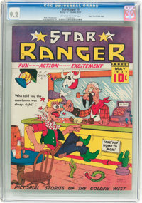 Star Ranger #3 Mile High Pedigree (Harry 'A' Chesler, 1937) CGC NM- 9.2 Off-white to white pages