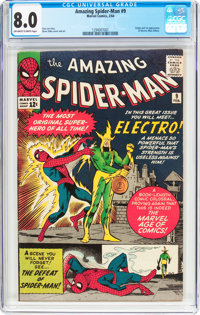 The Amazing Spider-Man #9 (Marvel, 1964) CGC VF 8.0 Off-white to white pages