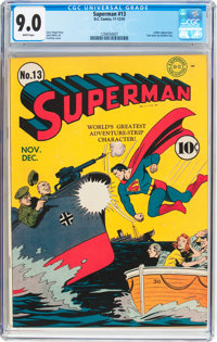 Superman #13 (DC, 1941) CGC VF/NM 9.0 White pages