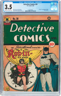 Golden Age (1938-1955):Superhero, Detective Comics #38 (DC, 1940) CGC VG- 3.5 Cream to off-white pages....