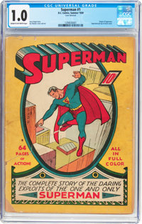 Superman #1 (DC, 1939) CGC FR 1.0 Cream to off-white pages