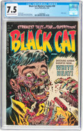 Golden Age (1938-1955):Horror, Black Cat Mystery #50 (Harvey, 1954) CGC VF- 7.5 Cream to off-white pages....