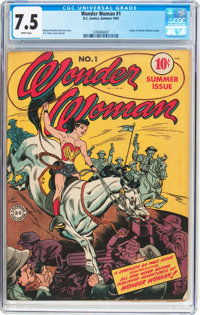 Wonder Woman #1 (DC, 1942) CGC VF- 7.5 White pages