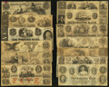 Obsoletes By State:Massachusetts, MA- Lot of 13 Counterfeit and Spurious Notes.. ... (Total: 13 notes)