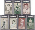 Autographs:Sports Cards, Signed 1920's - 60's Exhibits Baseball Stars & HoFers PSA/DNA Collection (7). ...