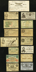 Obsoletes By State:Massachusetts, MA- Lot of 15 Massachusetts Issued Scrip Notes. . ... (Total: 15notes)