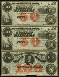 """MO- Lot of 9 State of Missouri (Jefferson City) """"Requisitions for"""" and Defence Bond Remainder Scrip Notes"""