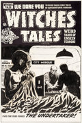 Original Comic Art:Covers, Lee Elias Witches Tales #24 Cover Original Art (Harvey, 1954)....