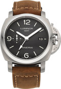 Timepieces:Wristwatch, Panerai Luminor 44 1950 3 Days GMT Automatic Wristwatch PAM 320, OP6817. ...