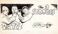 "Original Comic Art:Miscellaneous, Three Stooges ""As Seen On TV"" Production Art (c. 1960s)...."