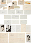 Baseball Collectibles:Others, 1950's Baseball Autographs Lot of Approximately 400. ...