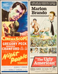 "Movie Posters:Adventure, Night People & Others Lot (20th Century Fox, 1954). Inserts (4)(14"" X 36""). Adventure.. ... (Total: 4 Items)"