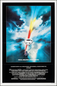 """Superman the Movie (Warner Brothers, 1978). Flat Folded One Sheet (27"""" X 41""""). Action"""