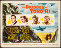 "Movie Posters:War, The Bridges at Toko-Ri (Paramount, 1954). Half Sheet (22"" X 28"")Style A. War.. ..."
