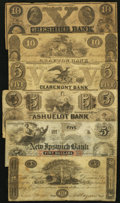 Obsoletes By State:New Hampshire, NH - Lot of 6 New Hampshire False Banknotes.. ... (Total: 6 notes)