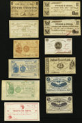 Obsoletes By State:New Hampshire, NH - Lot of 12 New Hampshire Civil War Period Scrip.. ... (Total: 12 notes)