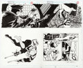 Original Comic Art:Splash Pages, Dan Jurgens and Klaus Janson Sensational Spider-Man #3 Pages2 and 3 Double Page Spread Original Art (Marvel, 1996...